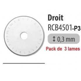 Lames 45mm DROITES - Pack 3 pièces