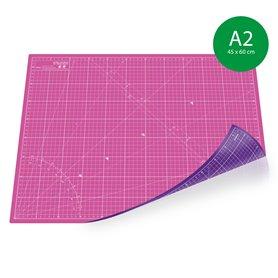 Tapis de découpe A2(45x60cm) - ROSE+VIOLET