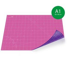 Tapis de découpe A1(60x90cm) - ROSE+VIOLET