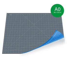 Tapis de découpe A0 (90x120cm) - GRIS+BLEU