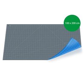 Tapis de découpe 100x200cm - GRIS+BLEU