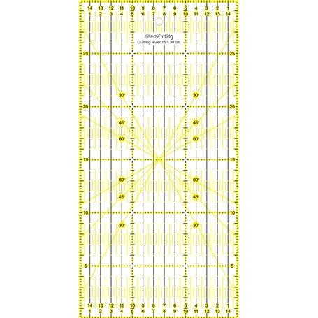 Régle de couture (quilt/patchwork) 15x30cm