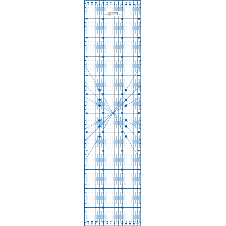 Régle de couture (quilt/patchwork) 15x60cm - BLEU