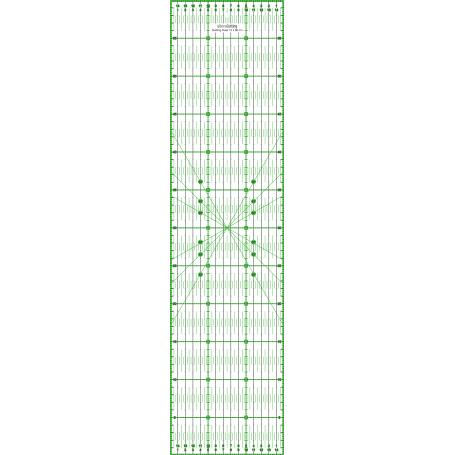 Régle de couture (quilt/patchwork) 15x60cm - VERT