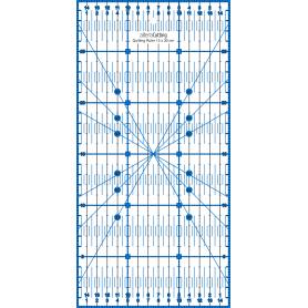 Régle de couture (quilt/patchwork) 15x30cm - BLEU