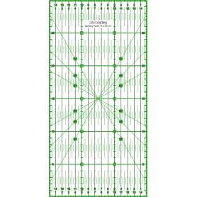 Régle de couture (quilt/patchwork) 15x30cm - VERT